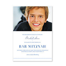 Joshua Bar Mitzvah Invitations