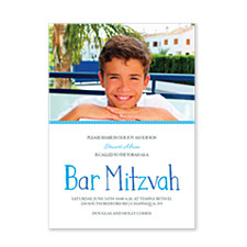 Isaac Photo Bar Mitzvah Invitations