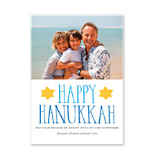 Simply Joyful Photo Hanukkah Cards