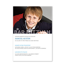 Modern Bar Mitzvah Bar Mitzvah Invitations