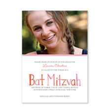 Share In Our Joy Photo Bat Mitzvah Invitations