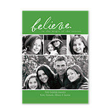 Believe in the Magic Christmas Photo Cards