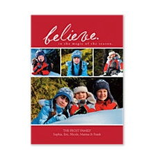 Magic of the Season Photo Christmas Cards