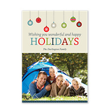 Dangling Ornaments Holiday Photo Cards