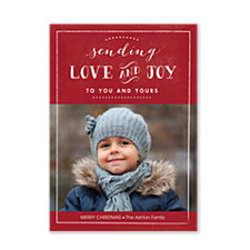 Love & Joy Holiday Photo Cards