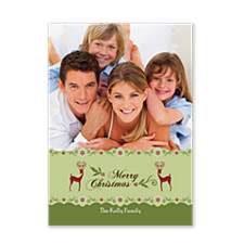 Fancy Reindeer Holiday Photo Cards