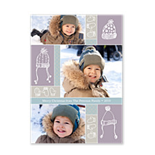 Warm Winter Hats Holiday Photo Cards