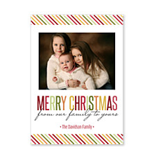 Family Stripes Christmas Photo Cards