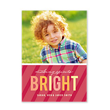 Bright Spirits Photo Christmas Cards
