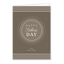 Pinstripe Circles Father's Day Cards