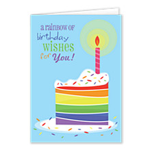 Rainbow Wishes Birthday Cards