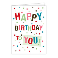 Confetti Birthday Birthday Cards