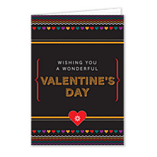 Bold Gold Valentines Day Cards