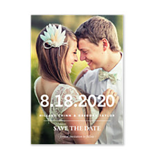 Simply Bold Save the Date Photo Cards