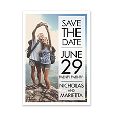 Gossamer Banner Save the Date Photo Cards