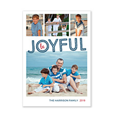 Be Joyful Collage Christmas Photo Cards