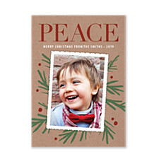 Peace & Pines Christmas Photo Cards