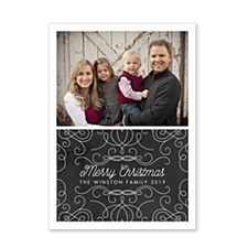 Chalkboard Swirls Photo Christmas Cards
