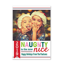 Naughty & Nice Holiday Photo Cards