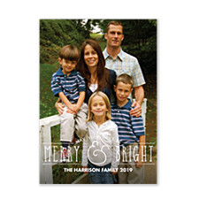 Merry Ampersand Christmas Photo Cards