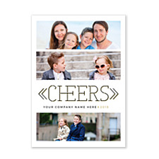 Deco Cheers Holiday Photo Cards