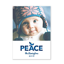 Simply Peace Holiday Photo Cards