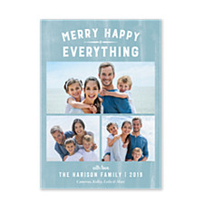 Merry Happy Everything Photo Holiday Cards