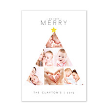 Merry Tree Photo Christmas Cards