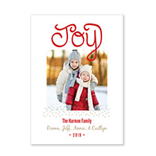 Joy & Stardust Holiday Photo Cards