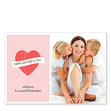 Pink Banner Mother's Day Photo Cards