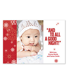 To All a Good Night photo Christmas Cards