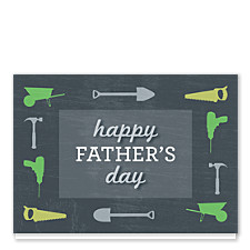 Chalkboard Tools Father's Day Cards