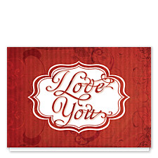 Swirls of Love Valentines Day Cards