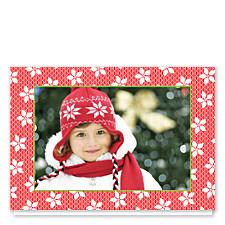 Poinsettia Lace Christmas Photo Cards