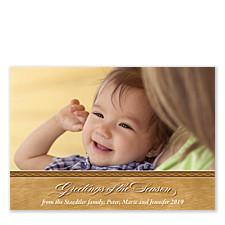 Brushed Gold Christmas Photo Cards