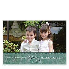 Peace & Joy Photo Christmas Cards