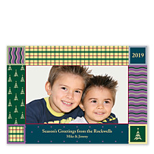 Wrapping Paper Holiday Photo Cards