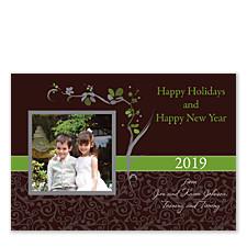 Asian Espresso Photo Christmas Cards