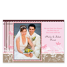 Cherish the Love Wedding Photo Thank You Cards