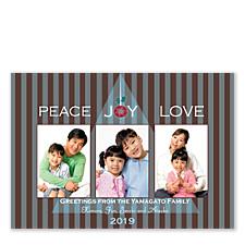 Peace Joy Love Photo Holiday Cards