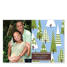 Blue Trees Holiday Cards
