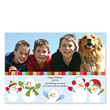 Snowmen Christmas Photo Cards