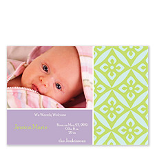 Wisteria Baby Birth Announcement Photo Cards