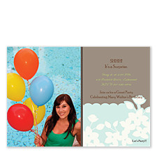 Mysterious Photo Party Invitation Cards