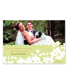 Laurel Wedding Thank You Photo Cards