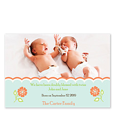 Tea Time Baby Birth Announcement Photo Cards
