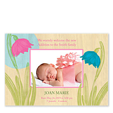 Show Stopper Birth Announcement Photo Cards