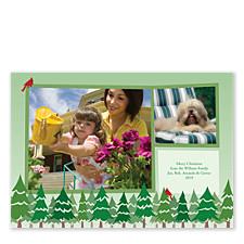 Tree Line Photo Christmas Cards