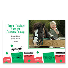 Celebration Dots Holiday Photo Cards
