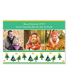Tipsy Trees Holiday Photo Cards